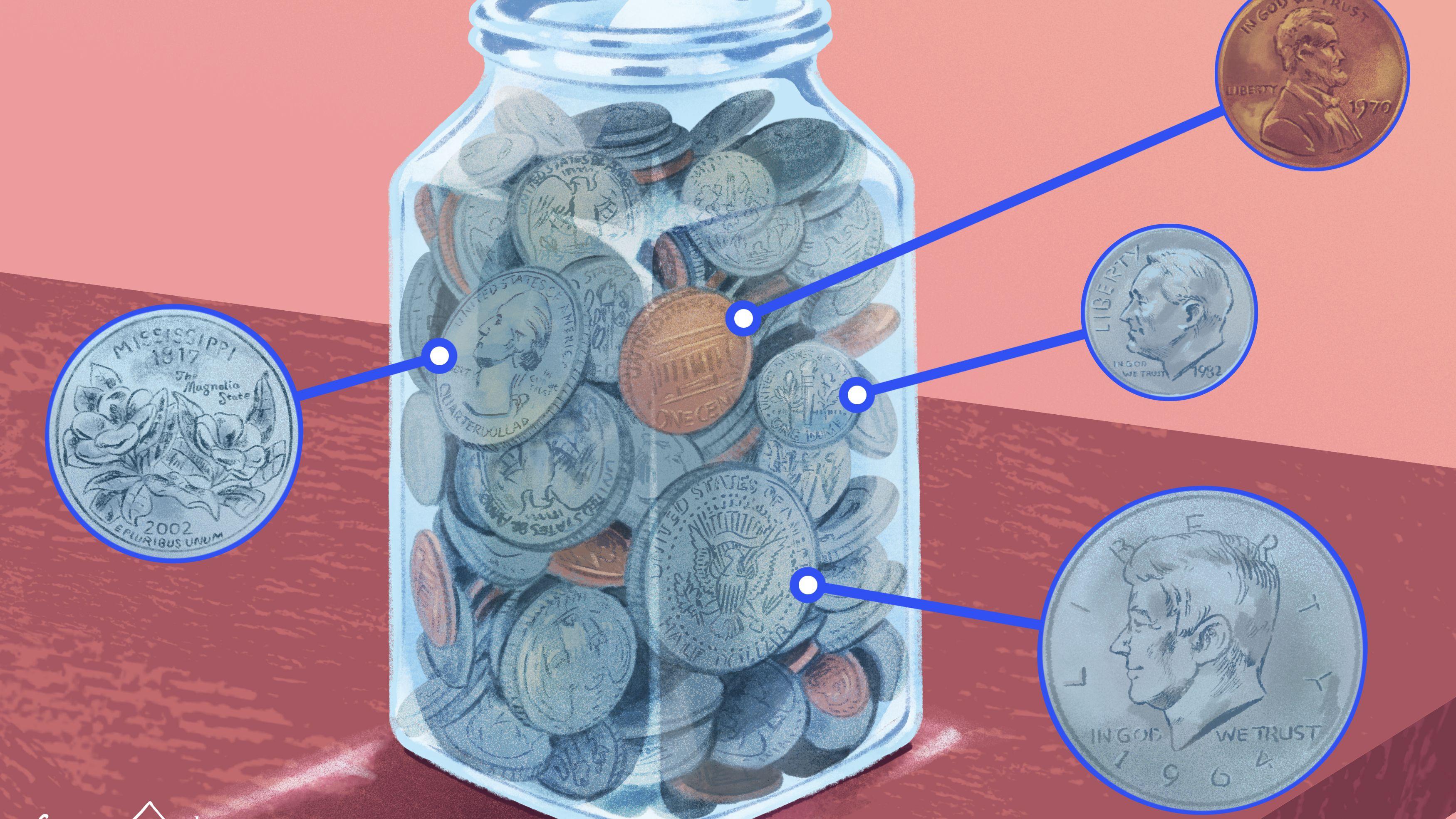 circulated 1986 D Kennedy Half Dollar Roll = 20 coins