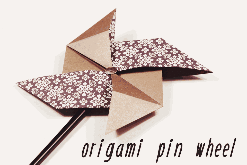 Origami Pinwheel Tutorial