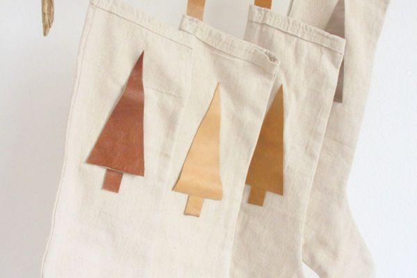 make simple boho christmas stockings