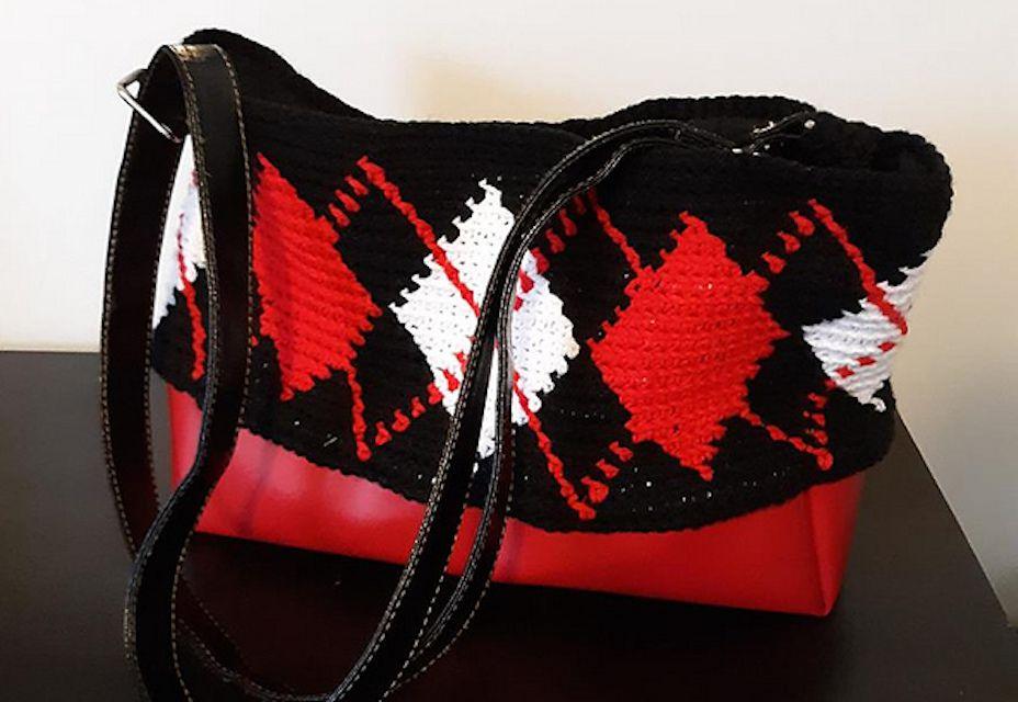 Tapestry Crochet Argyle Purse Free Pattern