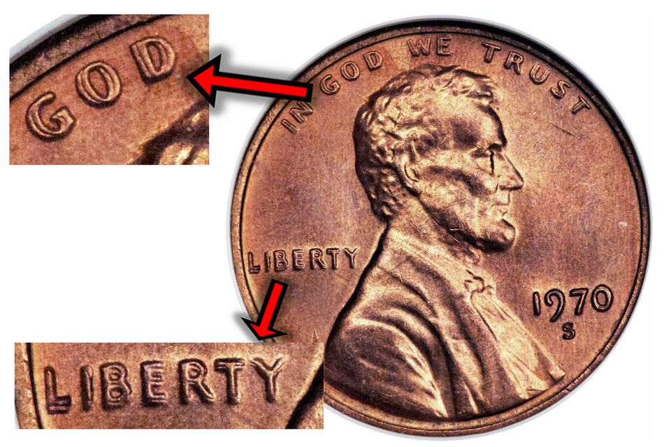 1970-S Lincoln Cent Doubled Die