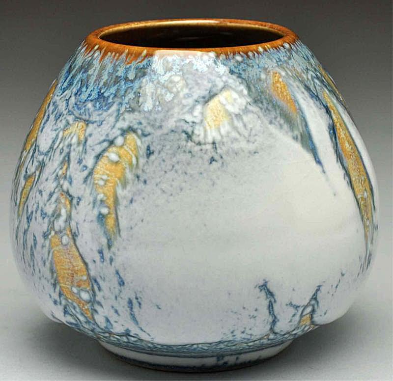 Rookwood Blue Drip Vase
