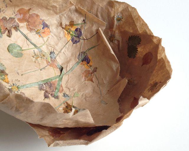 Flower Paper Mache Bowl