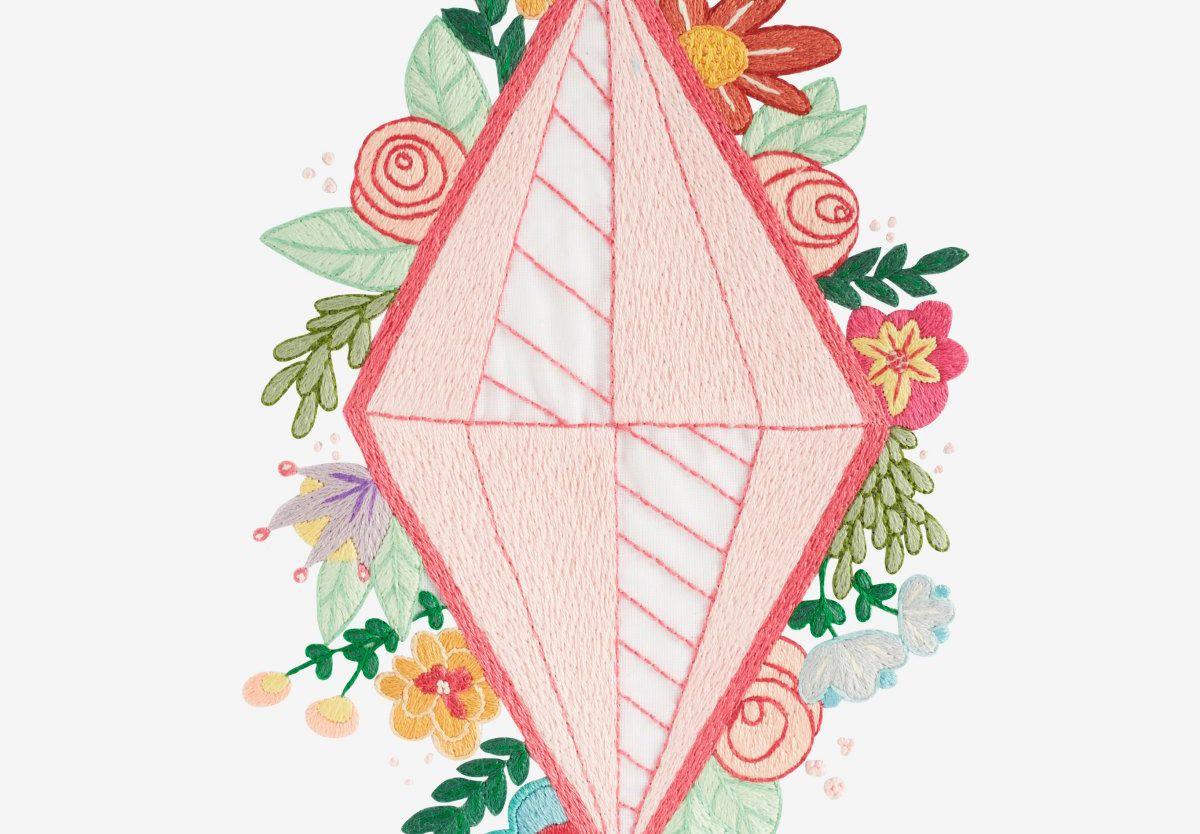 Diamonds & Flowers Pattern