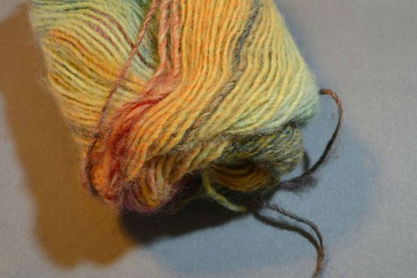 """A singles yarn is made from one """"ply"""" of yarn."""