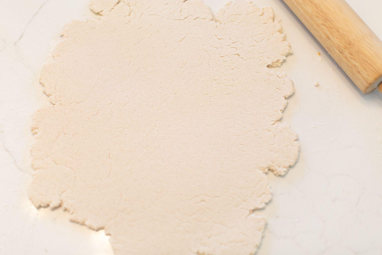 Rolled dough for DIY salt dough ornaments