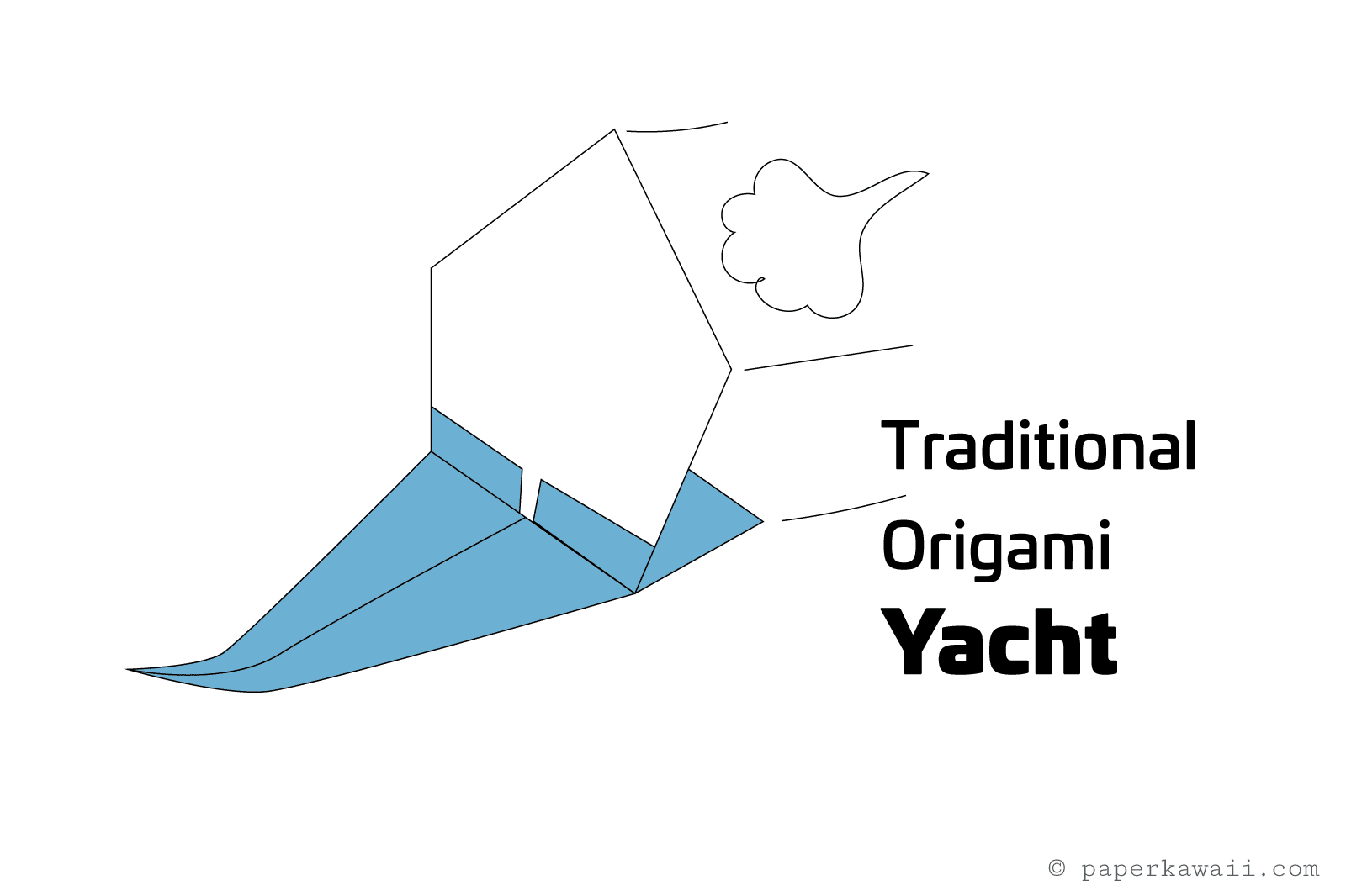 Make An Origami Sailing Yacht Central Lookup Model Diagrams Stepbystep