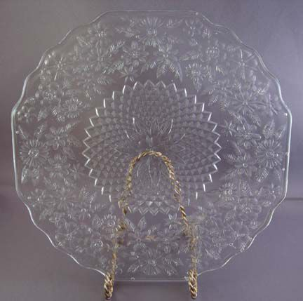 Pineapple & Floral Depression Glass Pattern