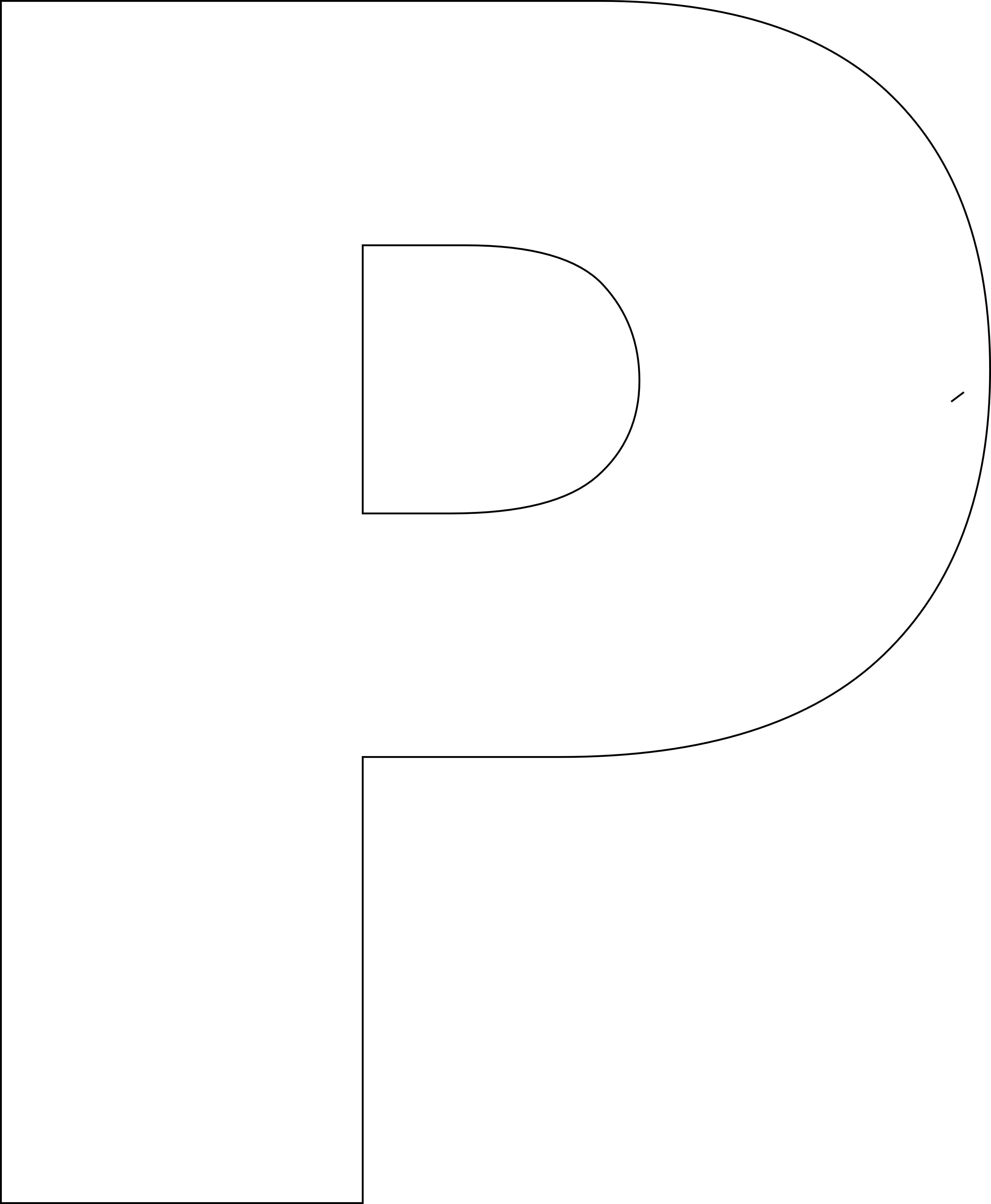 Free Printable P Template