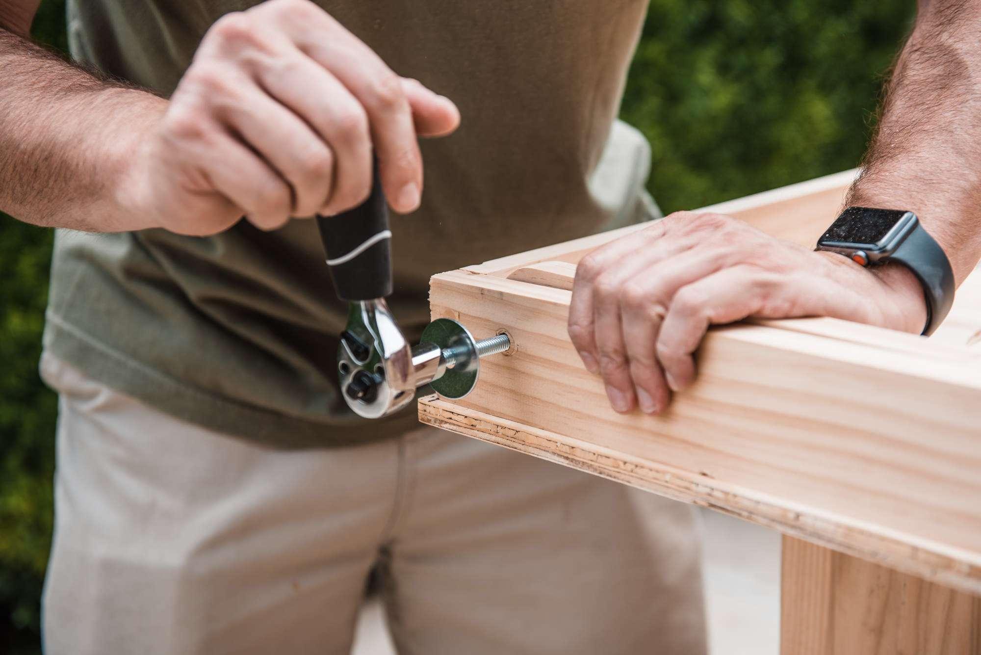 tightening the lock nut