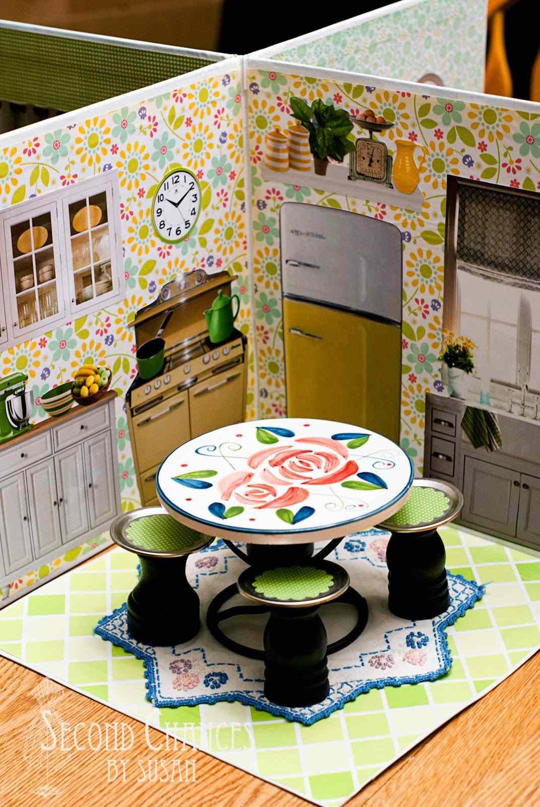 A dollhouse kitchen