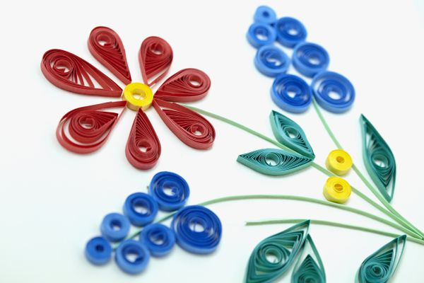 quilled flowers