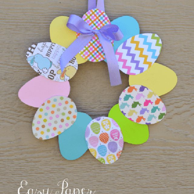 Easy Paper Easter Wreath