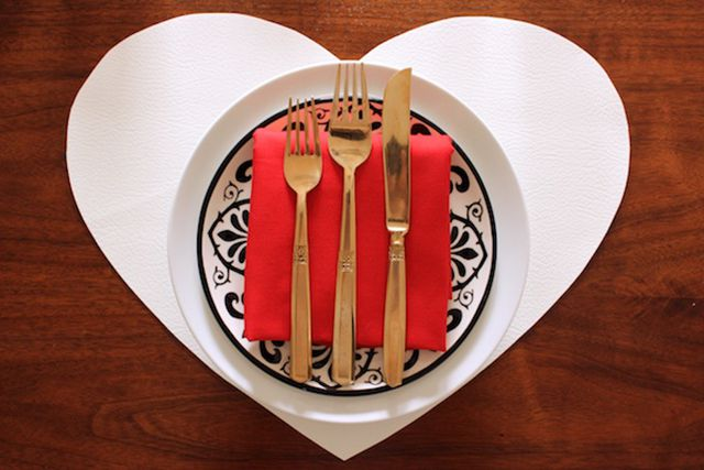 DIY Leather Heart Placemats