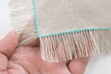How To Finish Embroidery With A Self Fringing Edge