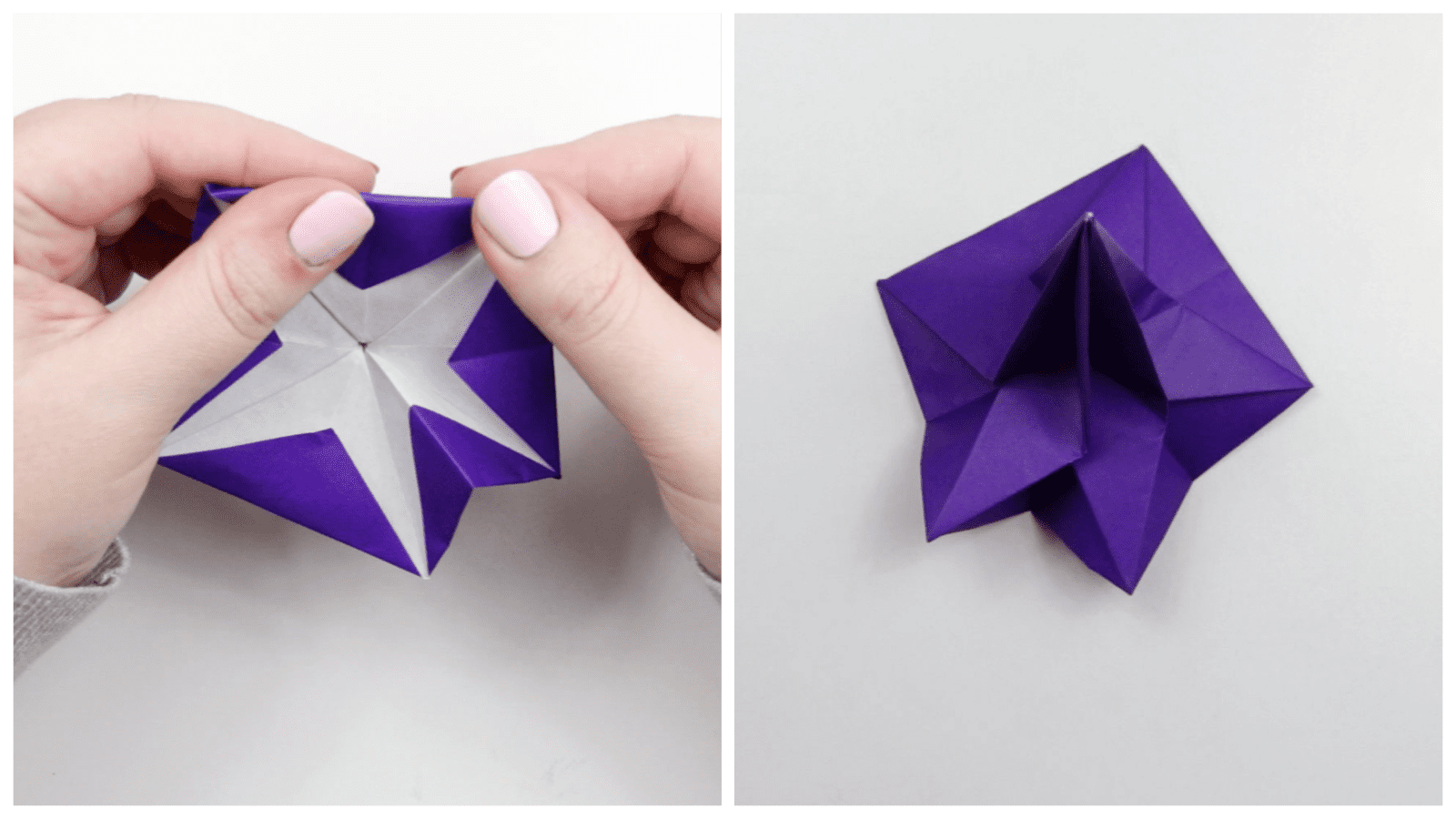 The last steps of folding