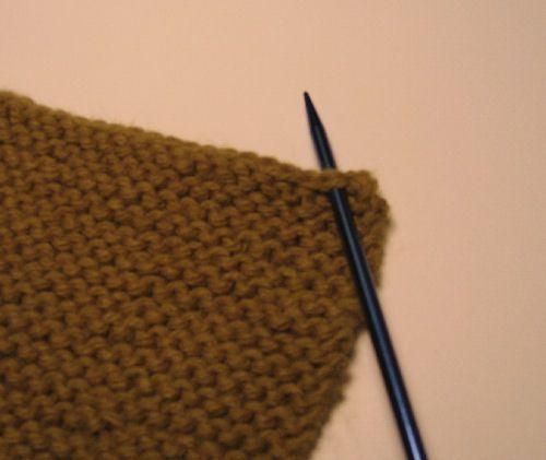 Picking up a stitch
