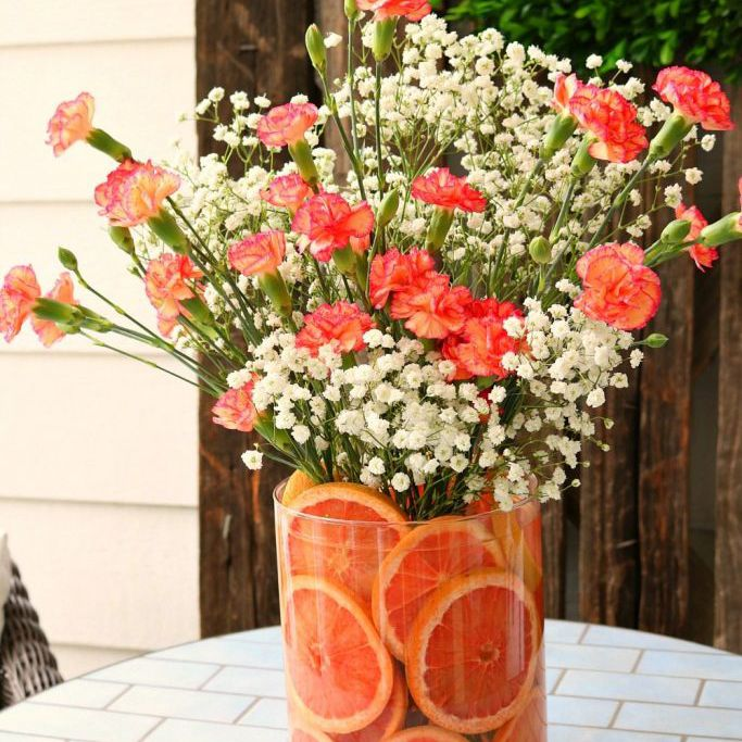 citrus floral arrangement