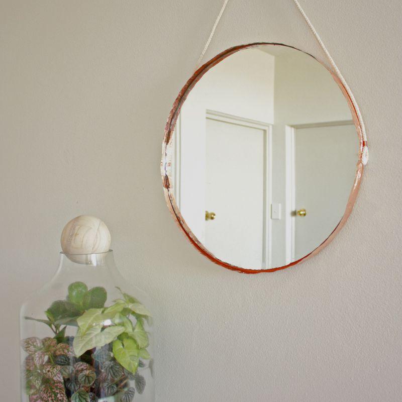 copper edged mirror