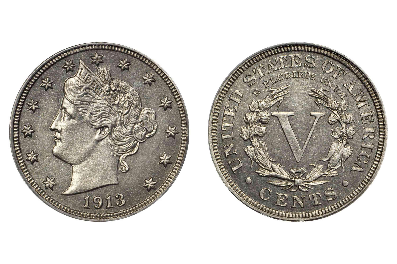 1913 Liberty Head Nickel Morton-Smith-Eliasberg specimen