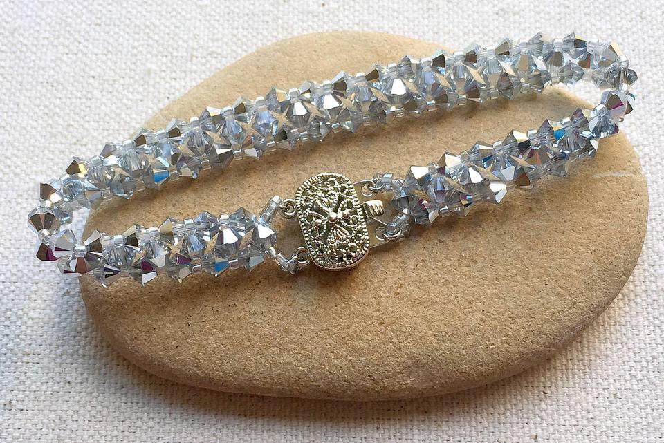 Easy Swarovski Crystal Bead Bracelet Tutorial