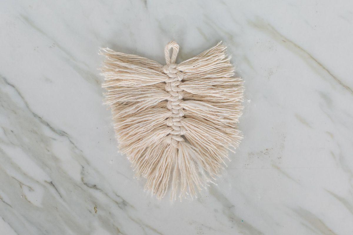 frayed macrame cord for DIY earrings