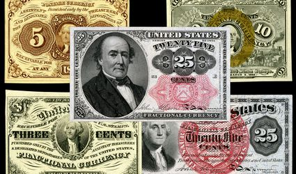 examples of United States fractional currency banknotes