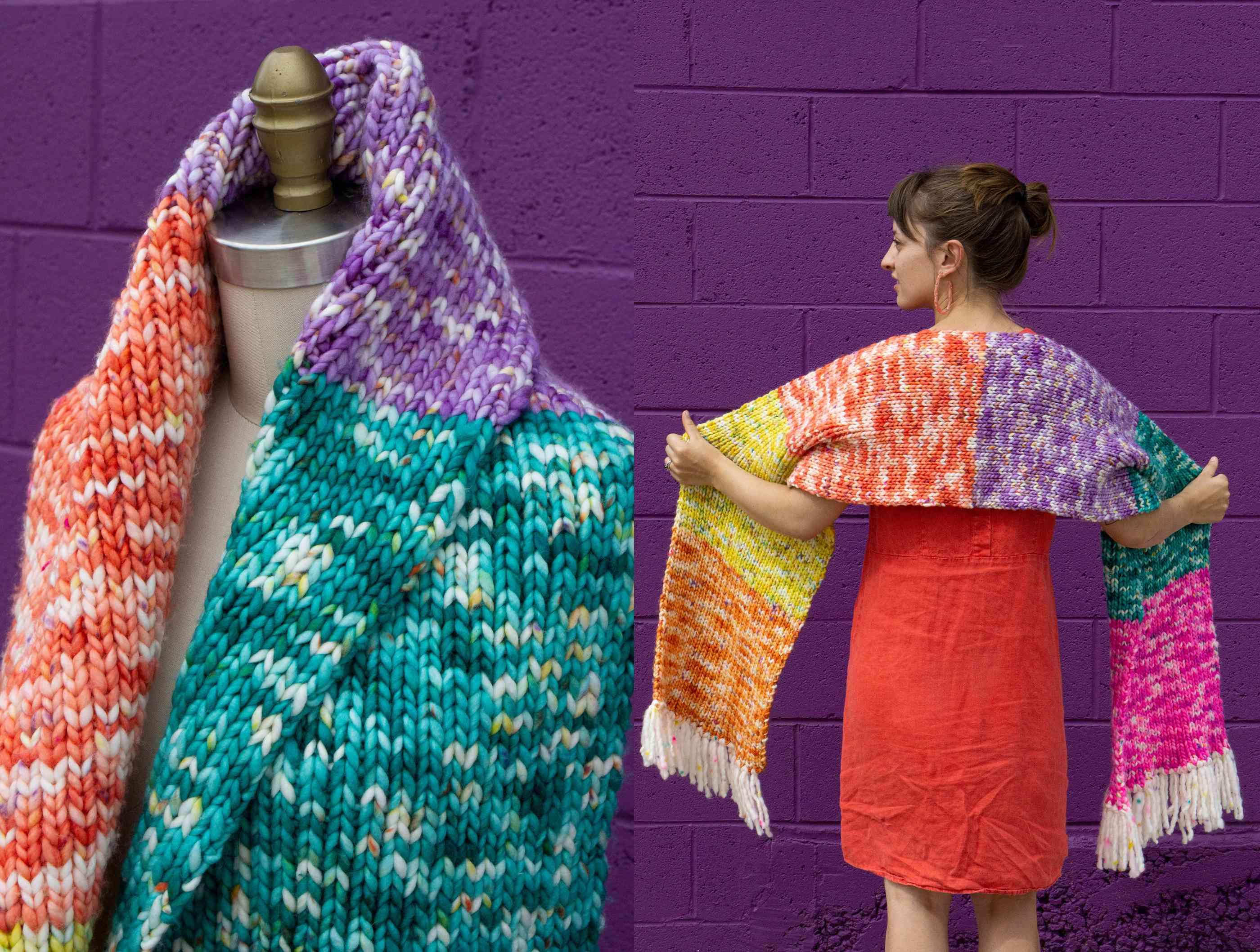 Fiesta Scarf Knitting Pattern
