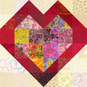 Double Hearts Quilt Block Pattern