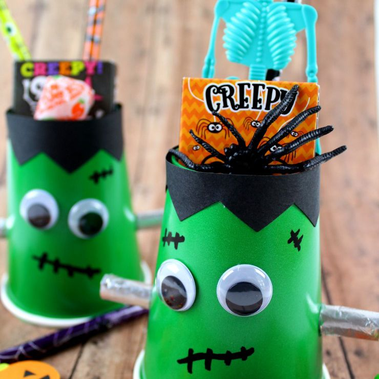 Frankenstein cup craft