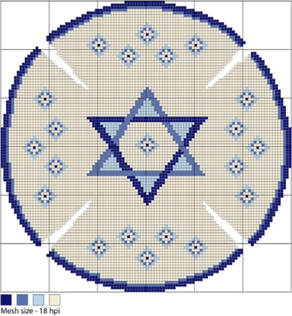 needlepoint kippah stitch diagram image