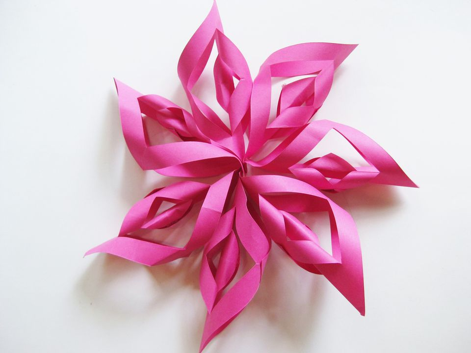Finished paper starburst