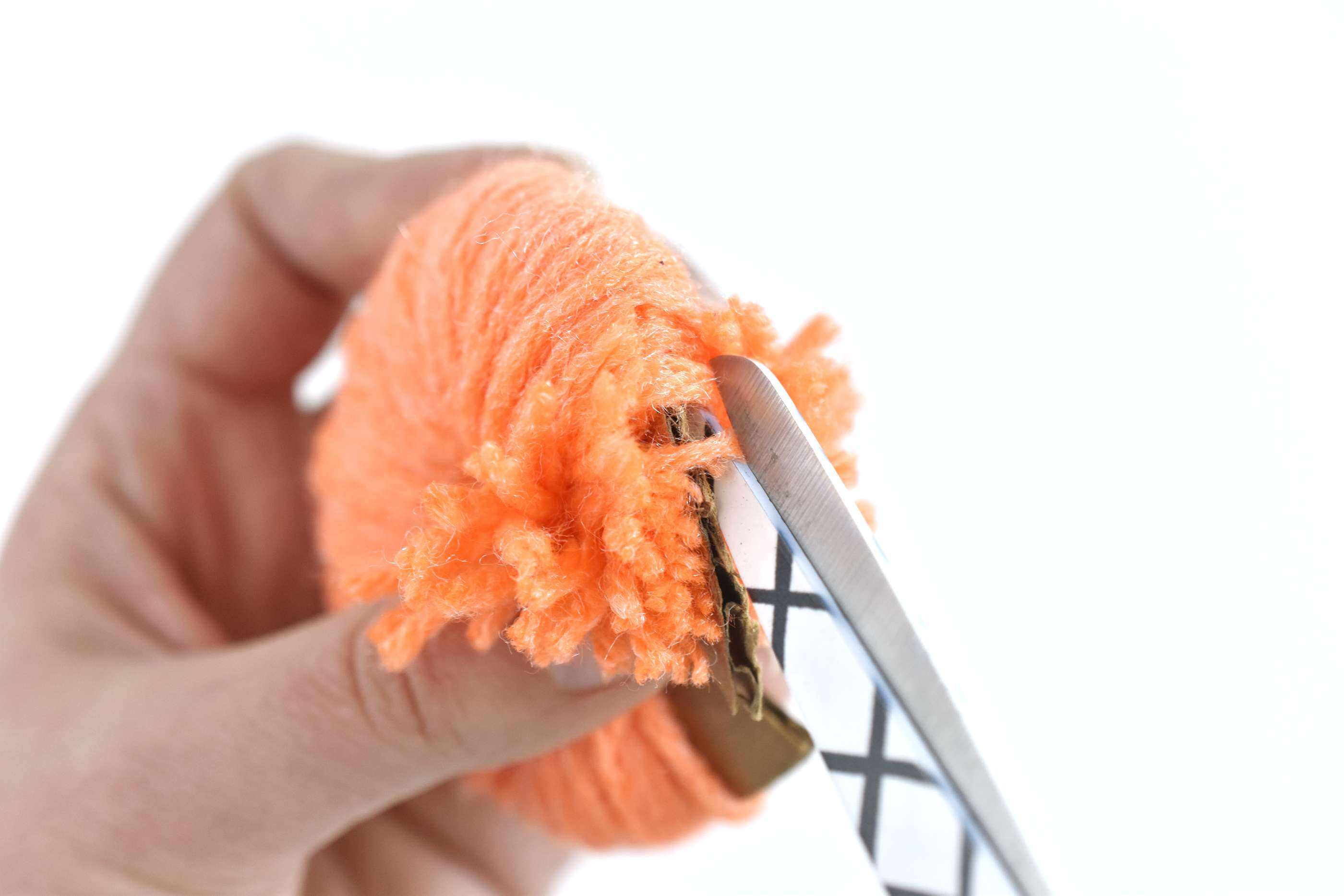 Snip the Yarn Around the Outside