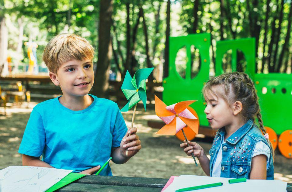 paper pinwheel craft