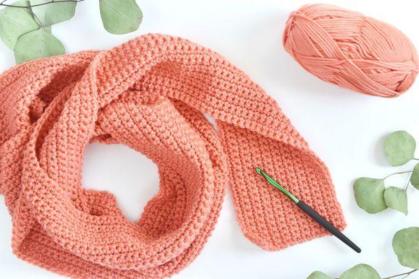 Single crochet scarf free pattern