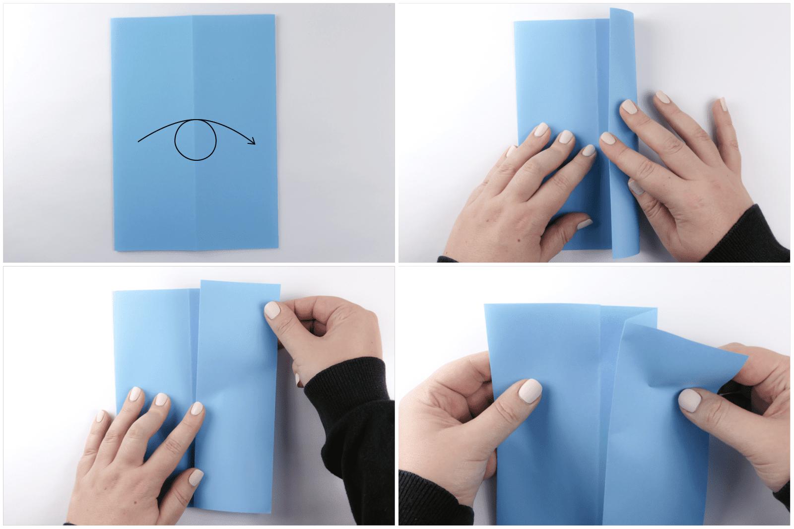 easy rectangular origami box step 2