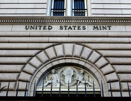 entrance way to the United States mint