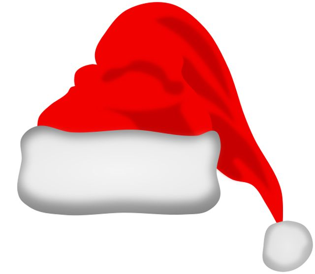 A red and white Santa hat.