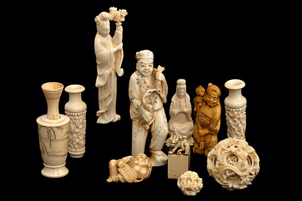 Ivory figurine china japan