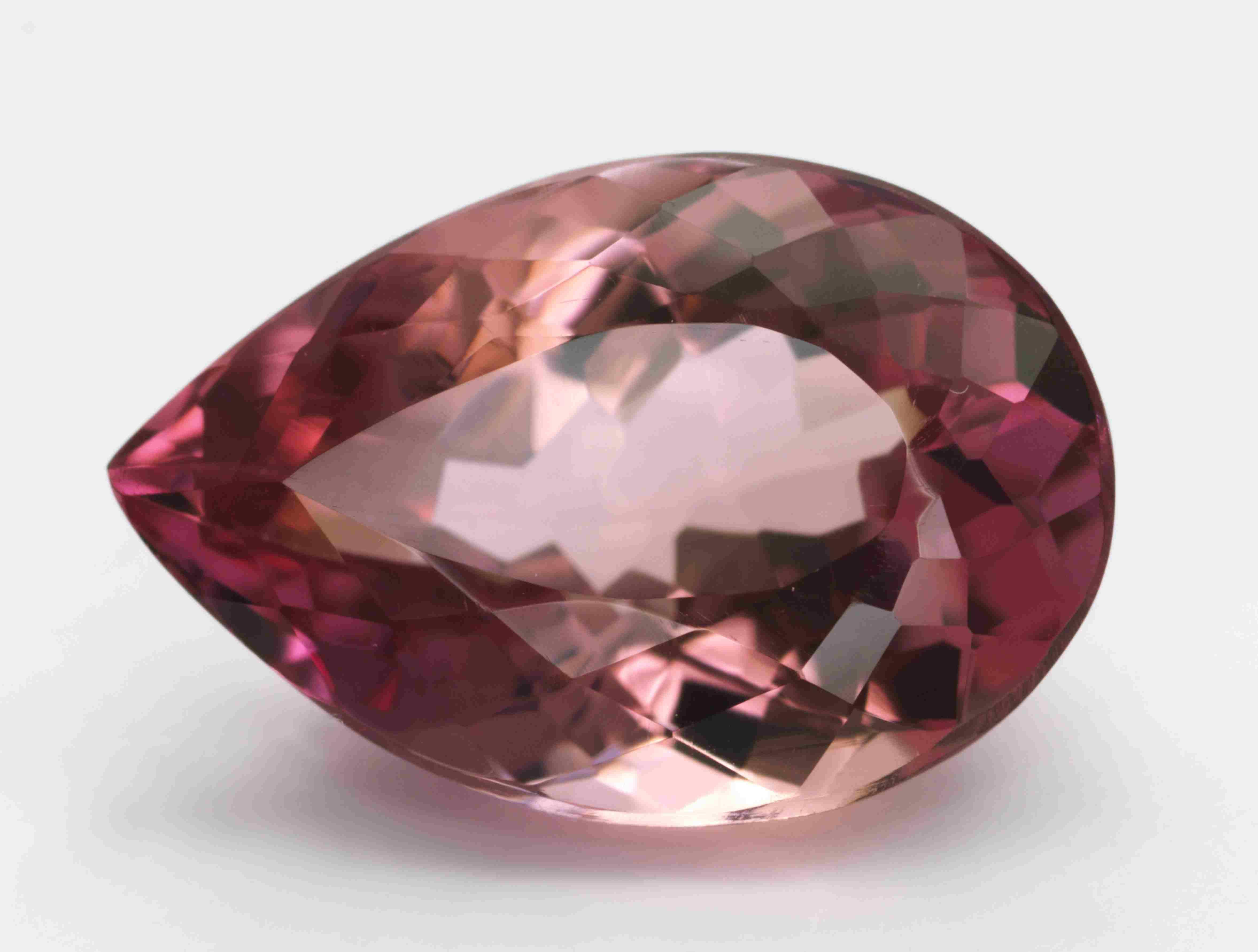 Close up of a red topaz gemstone