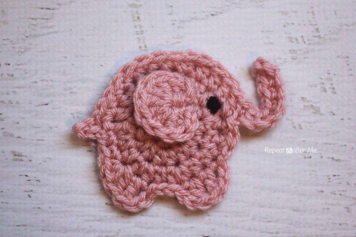 Pink Elephant Free Crochet Pattern