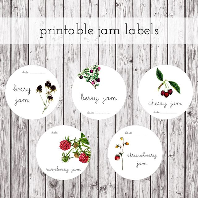 Printable Canning Jar Labels For Jam
