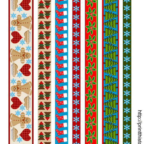 Several different styles of Christmas borders