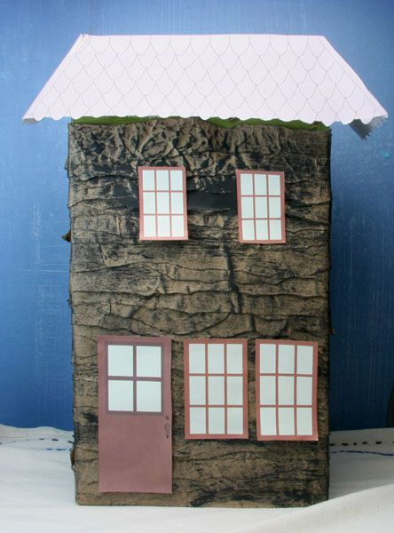 Make Haunted Houses With Cereal Boxes And Printables