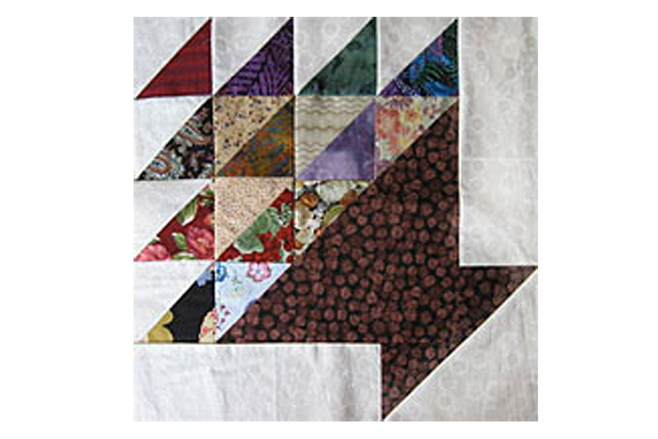 "15"" Basket Quilt Block Pattern"