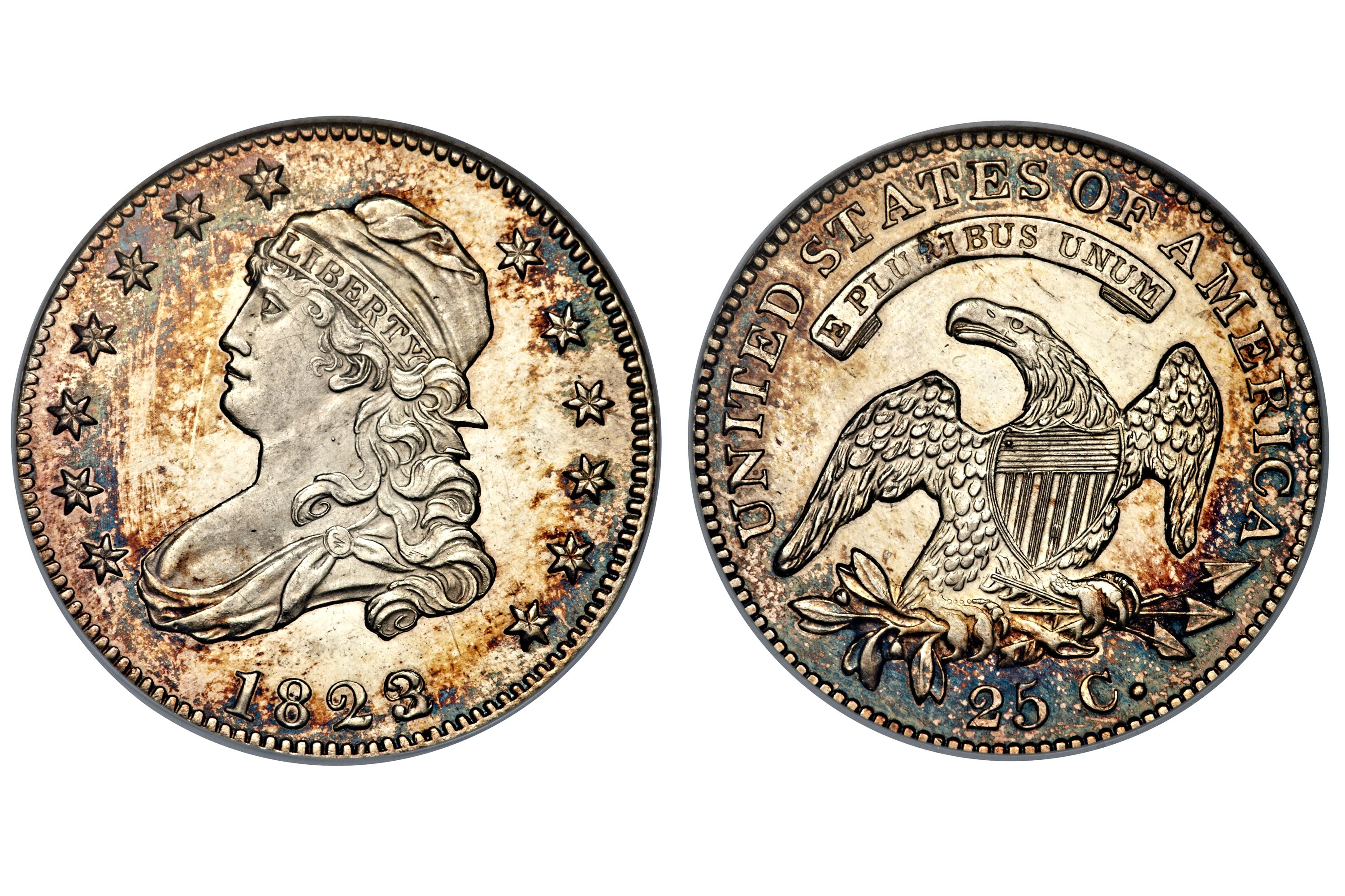 1823/2 Proof Capped Bust Quarter - Overdate