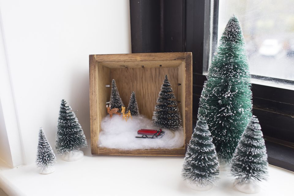 Holiday diorama scene