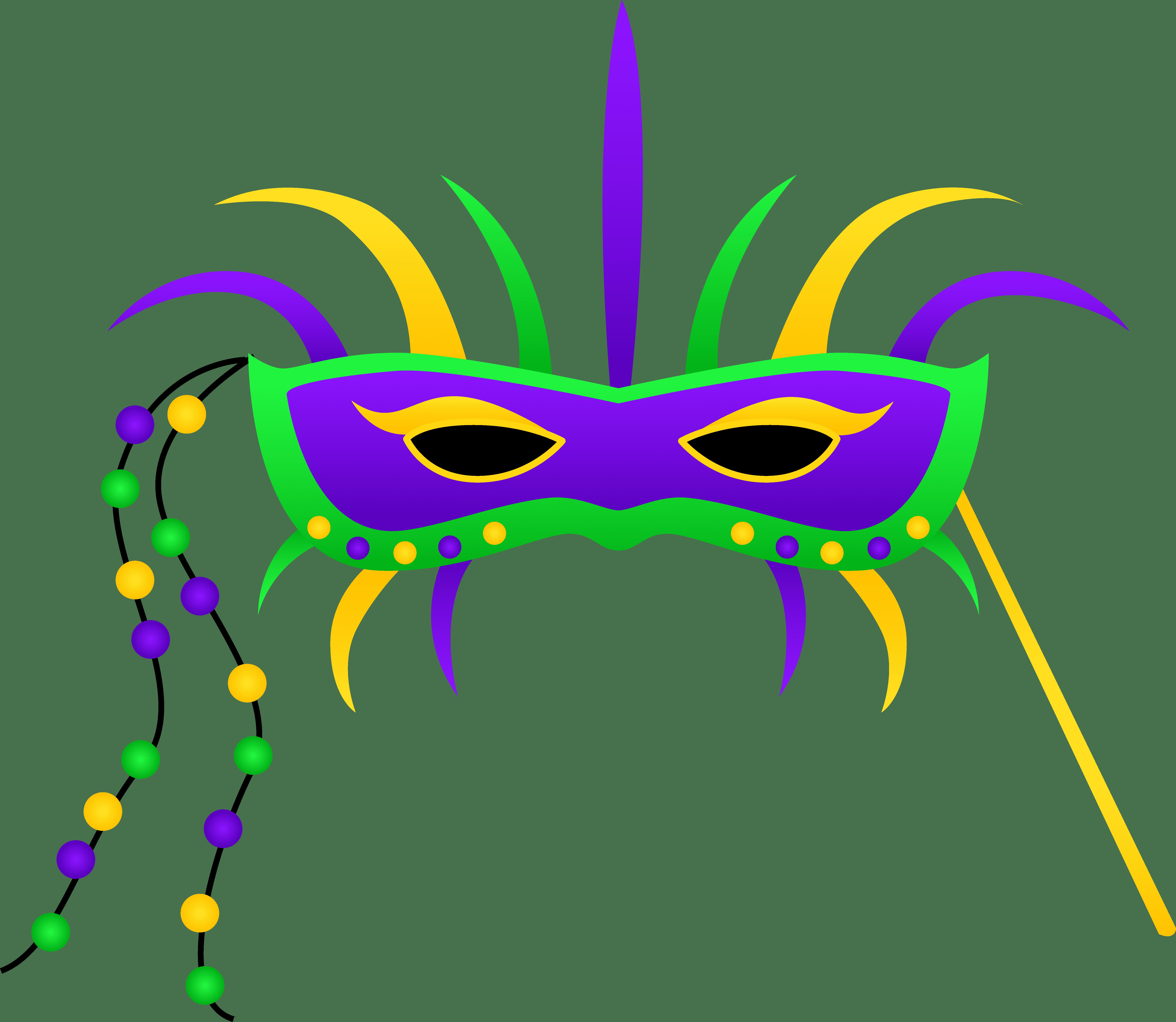 A Colorful Mardi Gras Mask Clipart Panda