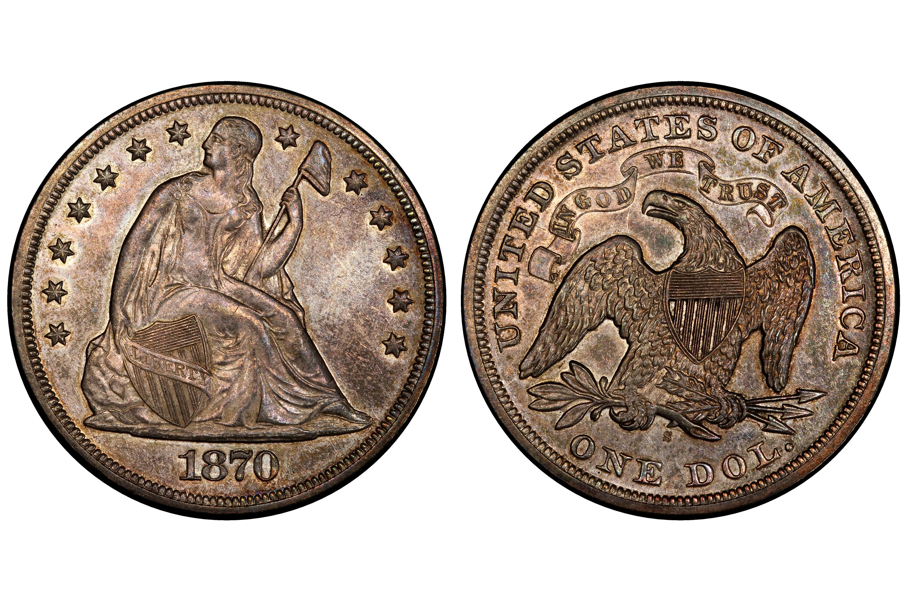 1870-S Liberty Seated Silver Dollar