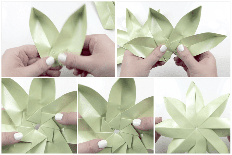 Perfect Lotus Flower Paper Folding Embellishment - Best Evening Gown ...